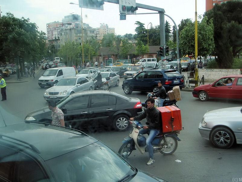 Traffic in Tirana