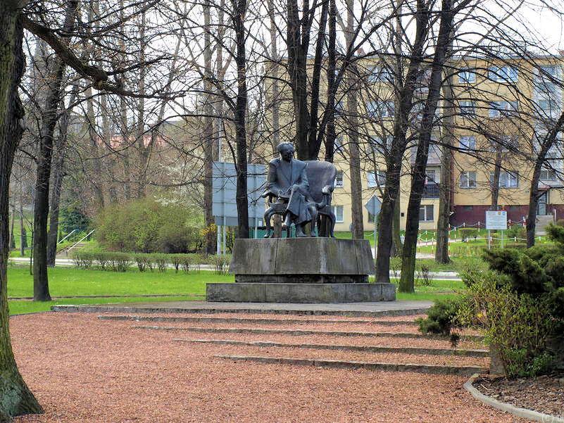 The monument of Gustaw Morcinek